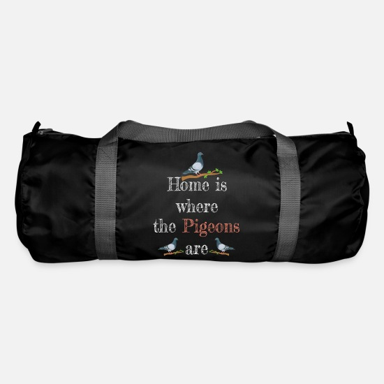 Pigeon Bags & Backpacks - Pigeon Tshirt Pigeons carrier pigeons - Duffle Bag black