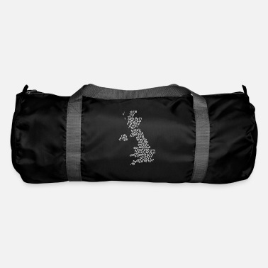 Null Binary word cloud in null map shape (white) - Duffel Bag
