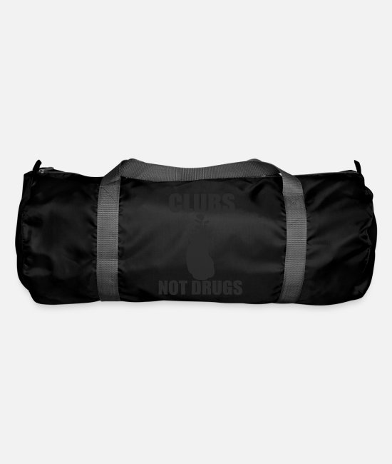 Golf Bags & Backpacks - Clubs not drugs | Golf Club - Duffle Bag black