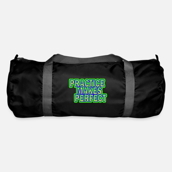 Practice Bags & Backpacks - Practice makes perfect practice makes perfect - Duffle Bag black