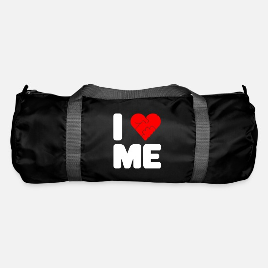 I Love Me Borse & Zaini - T-Shirt Single Love T-Shirt I Love Me Penis - Borsa sportiva nero