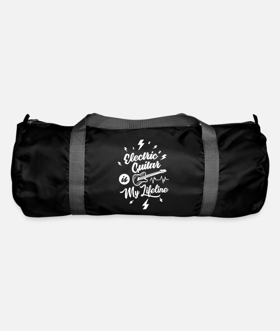 Guitar Player Bags & Backpacks - Electric Guitar Is My Lifeline Funny Gift Idea - Duffle Bag black
