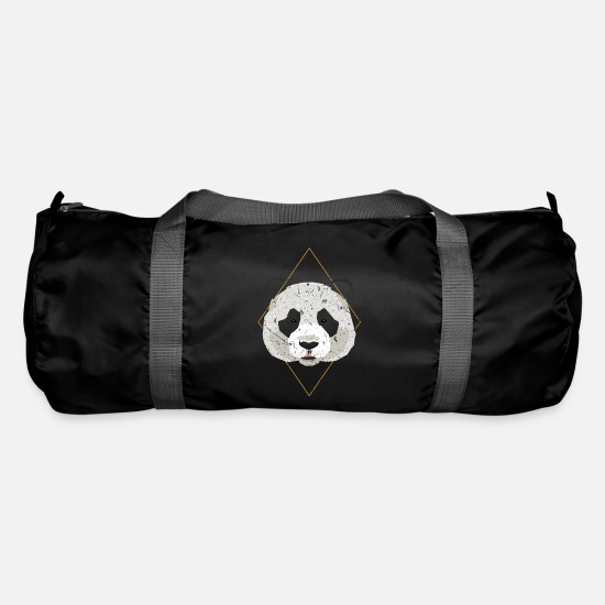 Birthday Bags & Backpacks - colorful textured panda gift - Duffle Bag black