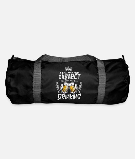 Alcohol Bags & Backpacks - A bad day for the cabaret beer drink idea - Duffle Bag black