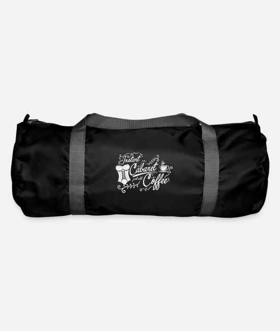 Poem Bags & Backpacks - Instant cabaret and coffee cabaret lyric satire - Duffle Bag black