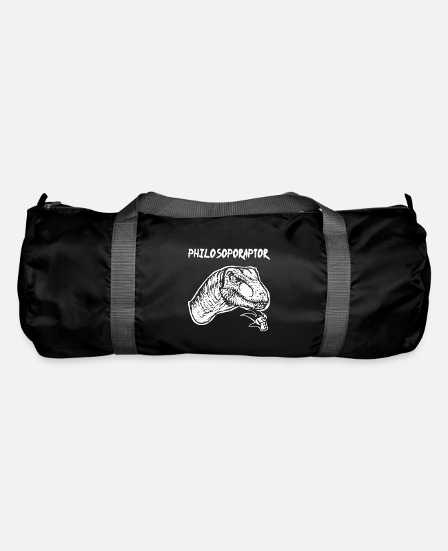 Think Bags & Backpacks - Philosoporaptor philosopher Dino Funny gift - Duffle Bag black