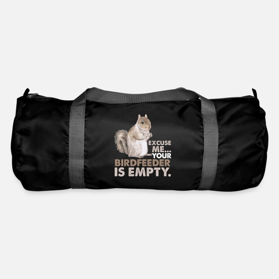 Bird Bags & Backpacks - Squirrel apology bird food is empty - Duffle Bag black