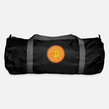 Hippie Sunflower Yellow Peace Sign - Vintage Flower - Duffle Bag