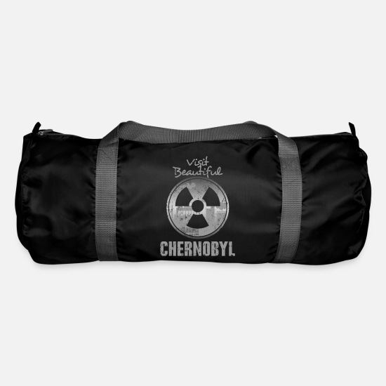 Radioactive Bags & Backpacks - Chernobyl holiday nuclear power plant - Duffle Bag black