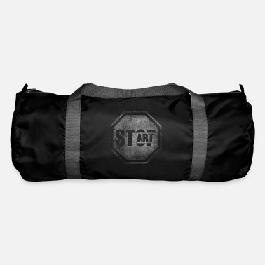 Start STOP START Start Art Start art - Duffle Bag