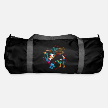 German Border collie polygon - Duffle Bag