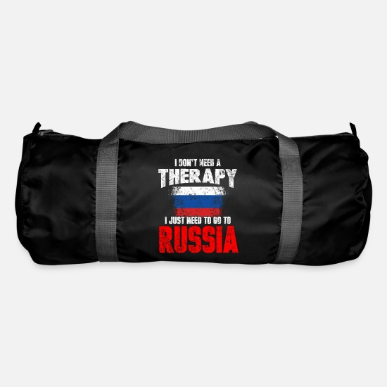 Russia Bags & Backpacks - Russia therapy Funny saying gift - Duffle Bag black