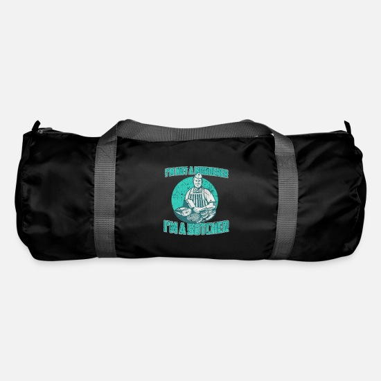 Butcher Bags & Backpacks - Butcher butcher occupation gift - Duffle Bag black