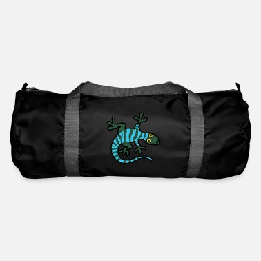 Gecko Lizard Gecko Striped Comic Logo - Duffle Bag
