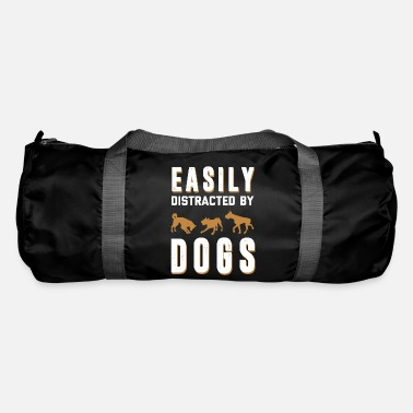 Dog - dog - distracted by dogs - shirt - Duffle Bag