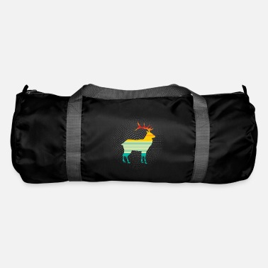 Stag Deer Animal Lover Retro Art Gift - Duffle Bag
