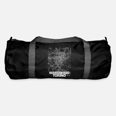 Set25 Straight Outta Torino city map and streets - Duffle Bag