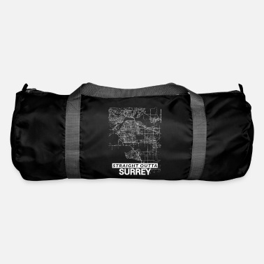 Surrey Straight Outta Surrey city map and streets - Duffle Bag