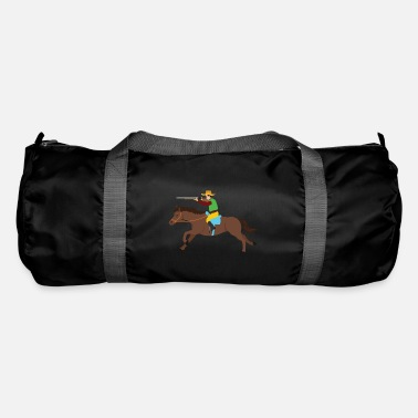 Revolver Cowboy riding horse lasso wild west gift - Duffle Bag