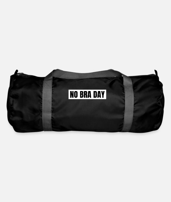 Tits Bags & Backpacks - No Bra Day Club bra bust holder gift - Duffle Bag black