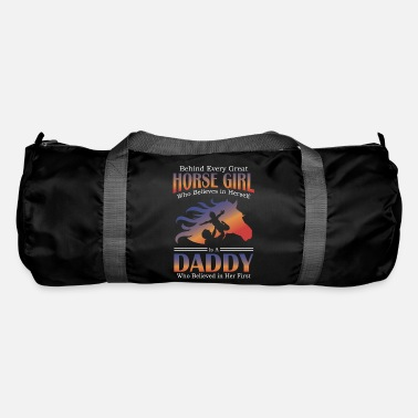 Fan Beside Every Horse Girl Is Daddy Gift Design Idea - Duffle Bag