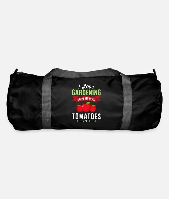 Father's Day Bags & Backpacks - Funny I Love Gardening from My Head Tomatoes Gift - Duffle Bag black