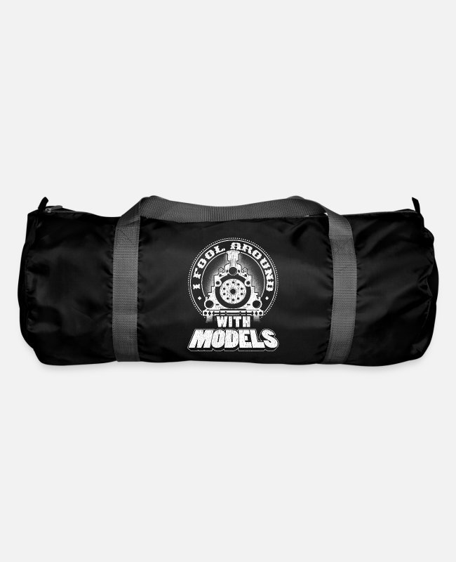 Training Bags & Backpacks - Train Gift I Fool Around with Models Trains - Duffle Bag black