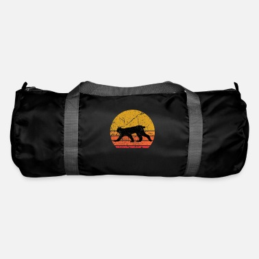 Cute Retro Sun Lynx Animal Gift - Duffle Bag