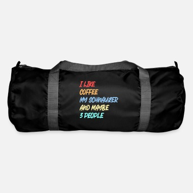 Junkie Schnauzer / DOG / COFFEE Schnauzer & coffee - Duffle Bag