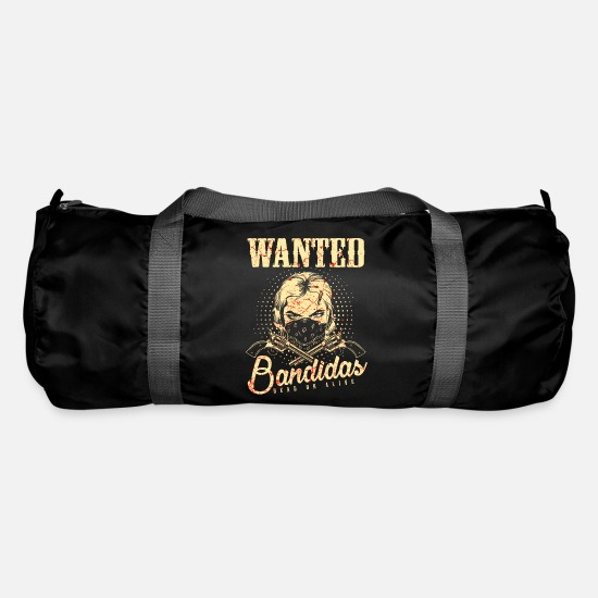 Western Bags & Backpacks - Wanted Wanted Gangster Wild West Bandidas - Duffle Bag black