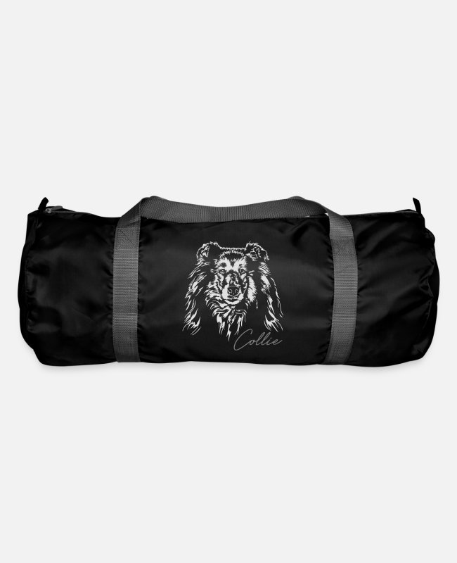 Sweet Dog Bags & Backpacks - Long hair COLLIE dogs dog Wilsigns dog portrait - Duffle Bag black