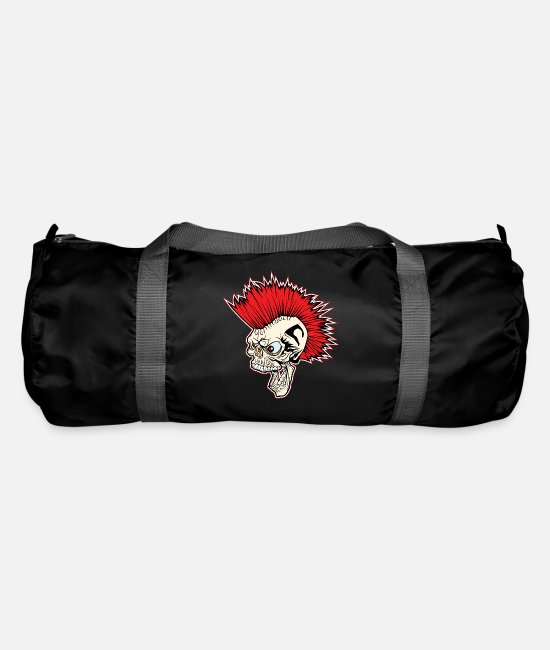 League Game Bags & Backpacks - Punk Rock Skull Head - Duffle Bag black