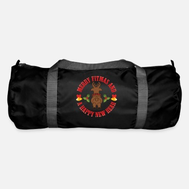New Wave Merry Fitmas And A Happy New Rear Funny Sarcasm - Duffle Bag