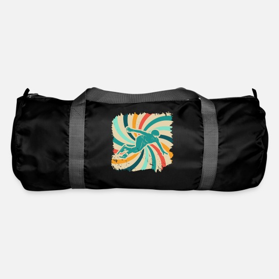 Gift Idea Bags & Backpacks - Speed skating retro - Duffle Bag black