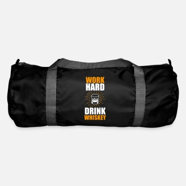Herre Funny Whisky Statement Shirt Work Hard - Sportstaske