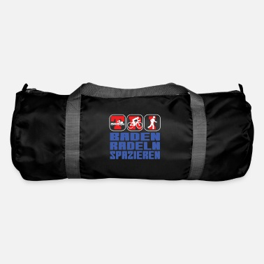Triathlon funny bathing cycling walking saying - Duffle Bag