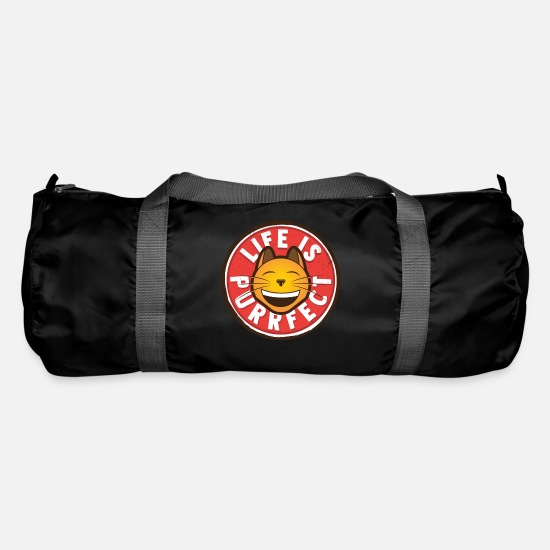 Grin Bags & Backpacks - Thinking cat positively - Duffle Bag black