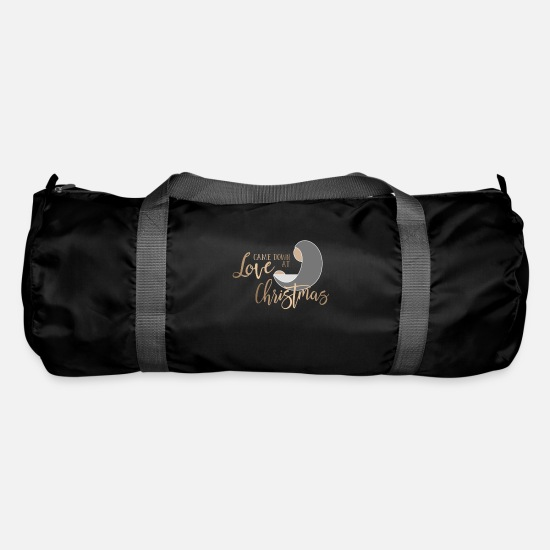 Love Bags & Backpacks - Christian Christmas Design - Love Came Down at - Duffle Bag black