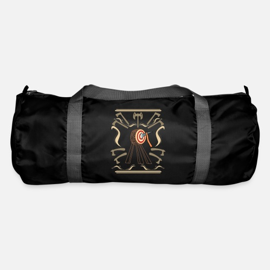 Viking Bags & Backpacks - Ax ax throwing lumberjack ax sport adolescent gift - Duffle Bag black