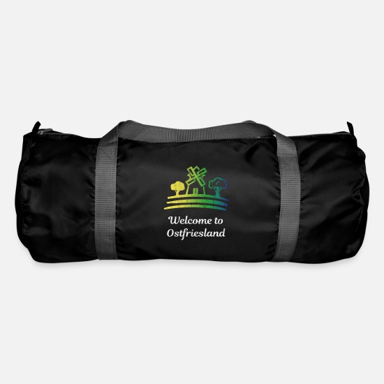 Northern Germany Bags & Backpacks - Ostfriesland windmill - Duffle Bag black
