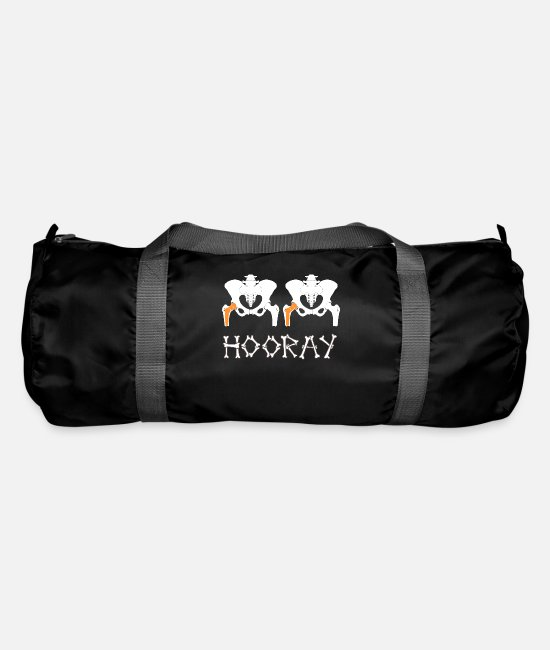 Op Bags & Backpacks - Hip hip hooray hip surgery hip replacement hip - Duffle Bag black