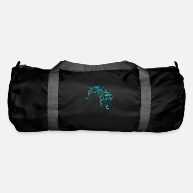 Meditation Cool Elephant Colorful Tribal Tshirt - Duffle Bag
