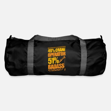 Heavy Badass Crane Operator Construction - Duffle Bag