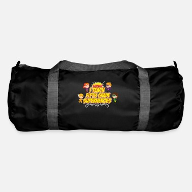 End Fifth Grade I Teach Superhero Teacher Preschool - Duffle Bag