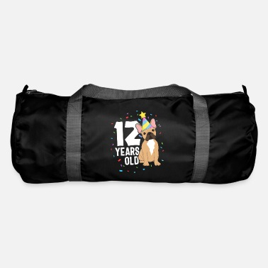 Bull 12 Years Old Birthday Outfit French Bulldog Dog - Duffle Bag
