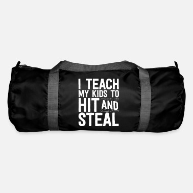 Teaching Baseball Shirt For Men I Teach My Kids To Hit And - Duffle Bag