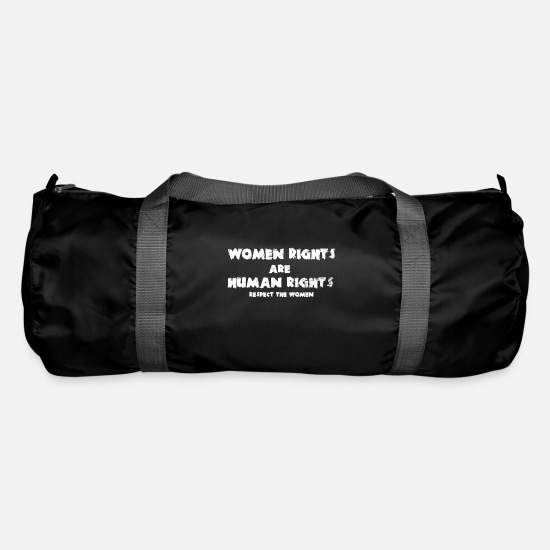 Suppression Bags & Backpacks - Women rights are human rights - Duffle Bag black