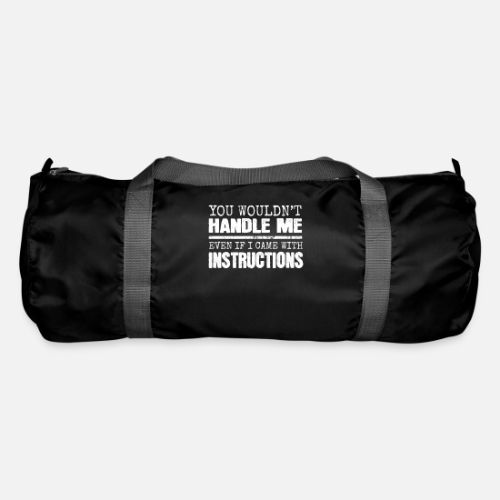 Funny Bags & Backpacks - funny saying funny sayings - Duffle Bag black