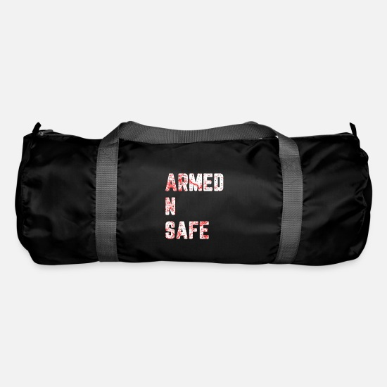 Army Bags & Backpacks - Armed and safe! - Duffle Bag black