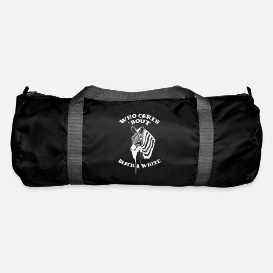 Politics Bags & Backpacks - Black And White Against Racial Respect Gift - Duffle Bag black